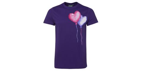 Heart Balloons T-Shirt Print