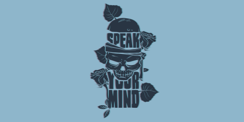 Speak Your Mind oldskool 3D effect print