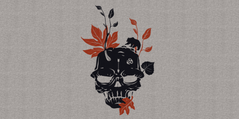 Autumn Nature Skull Tee