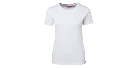 Ladies White Fitted T-Shirt