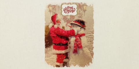 Santa Builds Snowman Santa Sack