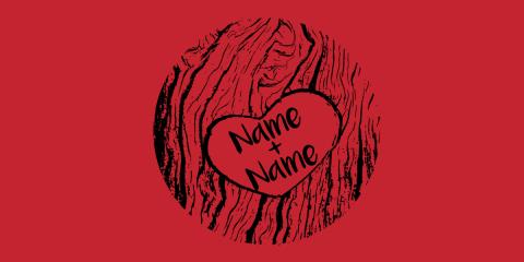 Carved Tree Love Heart Custom